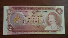 1974 2$ dollars bill canada replacement note G'UNC *B/A0405663