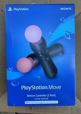 PlayStation 4 Move Motion Controllers (2 Pack) - Black - Fast Free Shipping