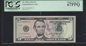 2013 $5 ML-A  PCGS 67PPQ