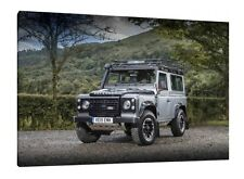 Landrover Defender 90 Adventure Edition - 30x20 Inch Canvas Framed Picture Print
