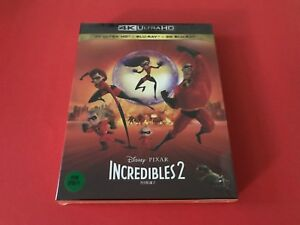 Incredibles 2 4K UHD + 2D/3D Limited Blu-Ray Steelbook Korea Stunning!