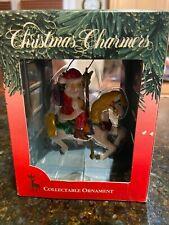 Santa's Best 1991 X-Mas Charmers Santa on Horse Ornament