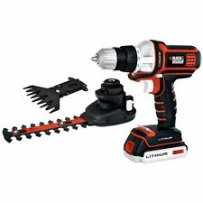 NEW Black & Decker MATRIX 20V MAX Lithium Drill Driver Hedge Trimmer Shear Combo