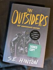 "Signed 50th Anniversary Edition ""The Outsiders"" By S.E. Hinton 1st Printing Hc"