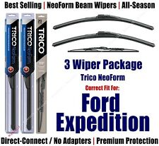 3-Pack Wipers Front & Rear - NeoForm - fit 2008 Ford Expedition - 16220x2/30160