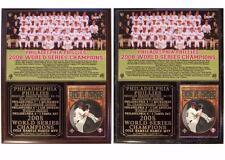 Philadelphia Phillies 2008 World Series Champions Photo Card Plaque