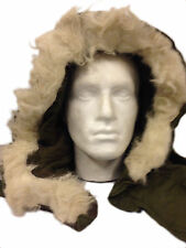 FISHTAIL M65 PARKA Hood Faux fur Genuine USA GI Military Used Grade 1 Olive Drab