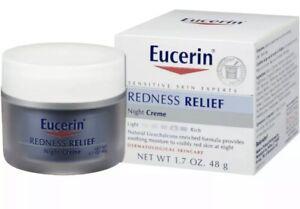 Eucerin REDNESS RELIEF  - 1.7 oz / 48 g  Soothing Moisture NIGHT CREAM