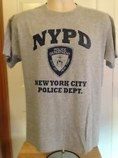 VINTAGE NYPD GRAY T SHIRT MEDIUM