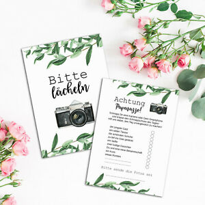 50 Fotokarten Hochzeit EUCALYPTUS Hochzeit, Fotoralley Hochzeitsspiel für Gäste