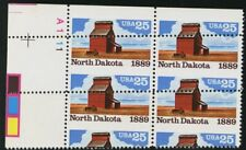 2403, MNH 25¢ N Dakota Spectacular Misperforation Error Plate Block Stuart Katz
