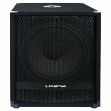 """Sound Town 15"""" 1600W Powered Subwoofers with 2 Speaker Outputs, (METIS-15SPW2.1)"""