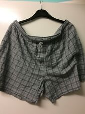 LOVELY SOFT MENS GREY CHECKED 2XL SHORTS PLUS SIZE PREOWNED