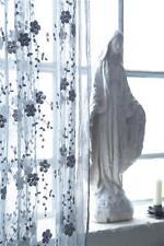 Jeanne d´Arc Living Deko Stoff Tüll Abschnitt 1,35 x 1,14 Grau shabby vintage