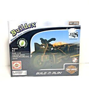 Buildex Wood Build -N- Play Kit Harley Davidson Armed Forces Motorcycle Kit