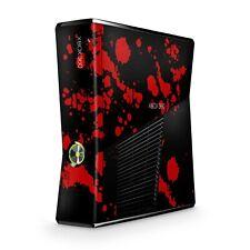 Xbox 360 Slim Skin Aufkleber Schutzfolie Sticker Skins Sticker Design Blood BLK