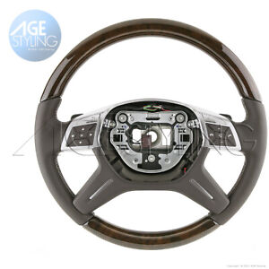 Mercedes-Benz ML550 G63 GL500 GL350 GL450 GL550 GL63 Walnut Mocha Steering Wheel
