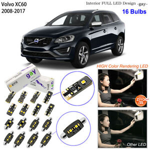 16 Bulbs Deluxe LED Interior Light Kit Xenon White Lamps For 2011-2017 Volvo V60
