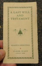 c1915 Lincoln Nebraska Clark Jeary - Season's Greetings story booklet