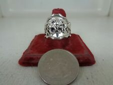 Nice Horse Ring .925 Sterling Silver Size 10 No Stone Signed By Running Bear R.B