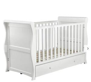 john lewis Martha/saleigh Cot Bed Underbed Drawer Storage Wood Newborn/5 Year
