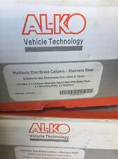 ALKO HYDRAULIC BRAKE CALIPERS - STAINLESS STEEL x 1 PAIR - INCLUDES PADS