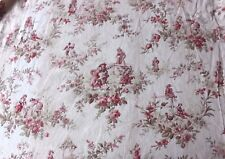 Charming Antique French Or English Country Children's Cotton Toile Fabric c1890