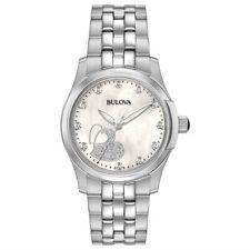 Bulova Womens Diamond Collection Silver Stainless Steel Bracelet 96P182  Watch