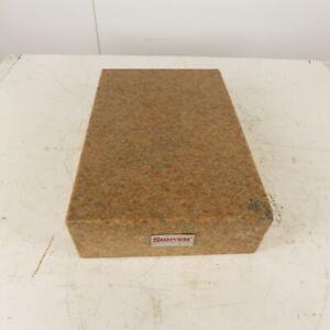 """Starrett 12"""" x 18"""" x 4-1/2"""" Pink Granite Surface Plate"""