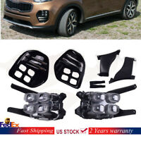 LED DRL Fog Lights Front Lamps & Fog Light Bezel Kit For 2017 -2018 Kia Sportage