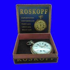 Superb Nickel Roskopf  Patent Pocket Watch 1906 & original Presentation Box