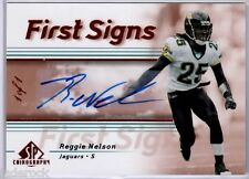 Reggie Nelson 2007 SP Chirography Rookie First Signs Bronze Autograph #1/1 AUTO