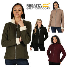 Regatta Brandall Womens Sherpa Fleece Jacket Ladies Soft Full Zip Up Outerwear