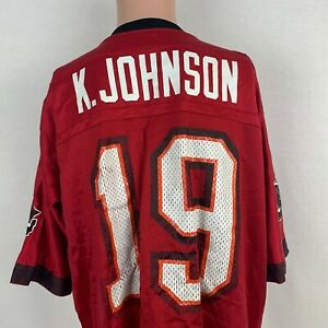 Nike Keyshawn Johnson Tampa Bay Buccaneers Replica Jersey Vtg NFL Football USA L