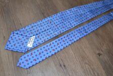 E. Marinella for Beretta Hunting Motif Silk Tie Made in Italy Blue