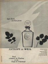 Publicité Advertising  ANTILOPE de WEIL parfum jeune