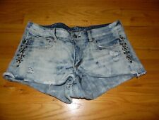 Women's American Eagle Distressed Studded Jean Shorts Size 12 FABULOUS!
