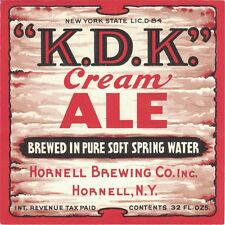 K.D.K Cream Ale IRTP Beer Label