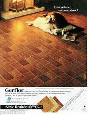 PUBLICITE ADVERTISING 115  1989  Gerflor revetement de sol plastifié