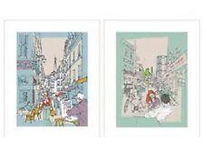 "IKEA Art Print 2 TVILLING 16.25""Hinterland London""UK England City Scene Ken Hurd"