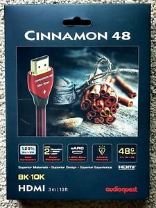 AudioQuest Cinnamon 48 8K-10K 48Gbps PVC HDMI Cable - 3m (10 ft)