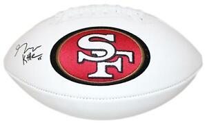 George Kittle Autographed San Francisco 49ers White Logo Football BAS 26070