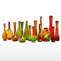 Art Glass Vase Hand Blown Colorful Vase Centerpiece Home Decor Vases Carved Vase