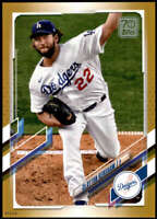 Clayton Kershaw 2021 Topps 5x7 Gold #67 /10 Dodgers