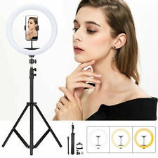 """12"""" LED Ring Light with Stand Kit Dimmable Lamp Tripod Photo Selfie Phone Video"""