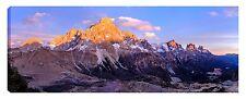 Quadro moderno DOLOMITI montagne neve trentino ghiaccio tela canvas 40x120 alba
