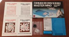 Vintage 1979 Word + Number Master Mind Board Game 100% Complete Invicta Kenbrite