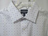 Croft & Barrow Mens Long Sleeve Shirt 16.5~17.5~18 White Blue No Iron (2-36C2)