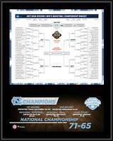 UNC Tar Heels 12x15 2017 NCAA Men's Basketball National Champs Bracket Plaque