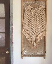 BoHo Vintage 70s Crochet poncho